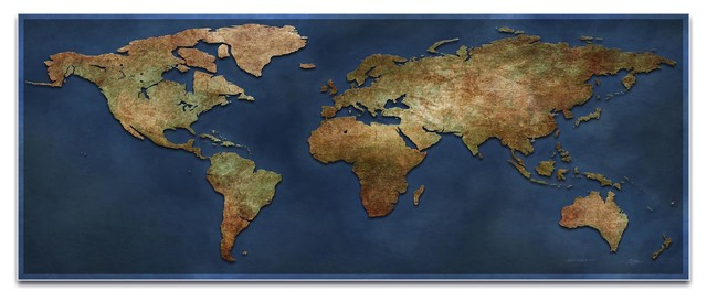 World Map Art S World Map Old World Wall Decor On Metal Or - 1800s world map