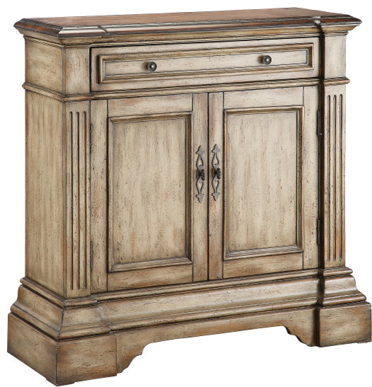 Stein World Gentry Accent Cabinet Antique Dusty Linen 28336