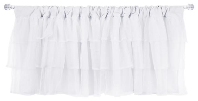 Tulle Window Valance, White.