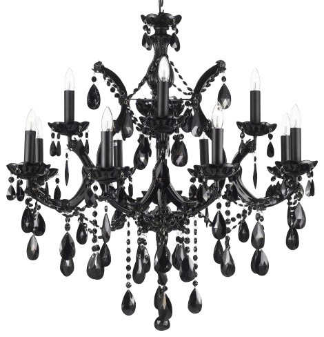 Jet black chandelier empress crystal traditional chandeliers jet black chandelier empress crystal mozeypictures Images