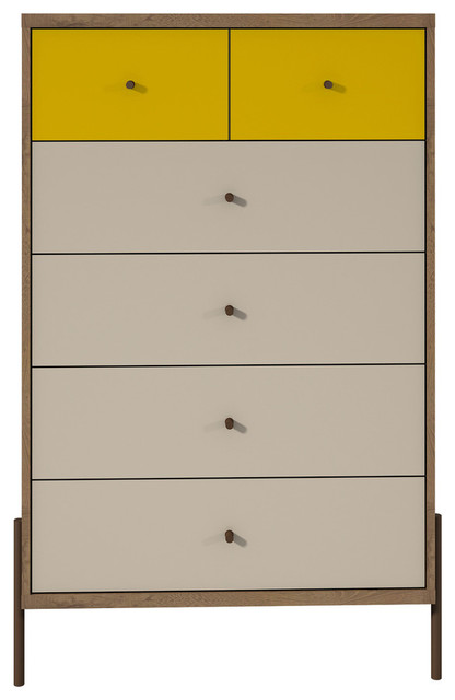 "Joy 48.43"" Tall Dresser , Yellow."