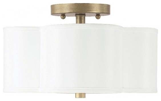 Capital Lighting Quinn Semi-Flush Fixture, 2-Light.
