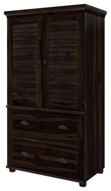 Rustic Solid Wood Wardrobe Armoire