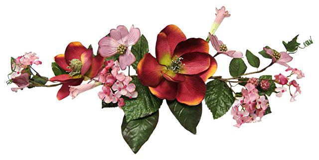 Crinkle Magnolia Swag, Mauve.