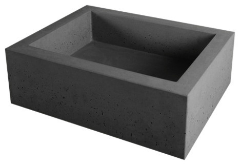 Terra Concrete Sink, Black.