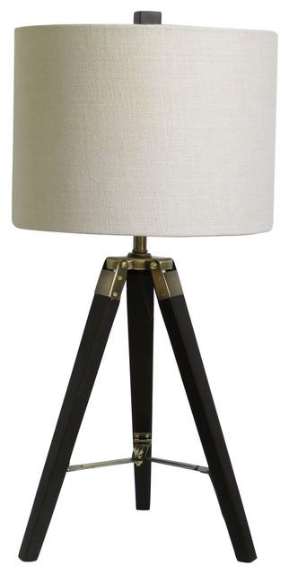Fangio Lighting 28 Weathered Tripod Table Lamp Midcentury Table