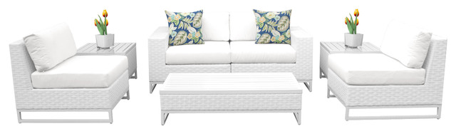 Key Largo 7-Piece Outdoor Wicker Patio Furniture Set.