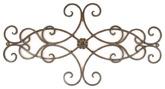 Outdoor Scroll Wall Art Impressive Hearts Scroll Iron Door Topper  Rustic  Outdoor Wall Art . Inspiration Design