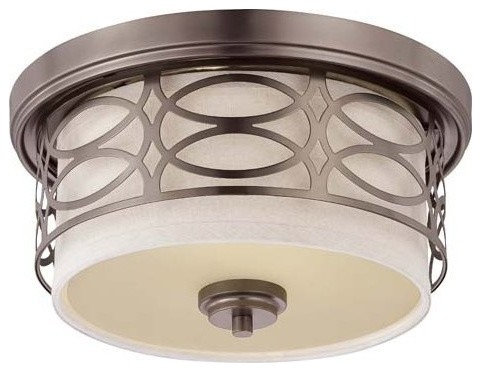 Nuvo Lighting 60 4727 Harlow Two Light Flush Dome Ceiling Fixture