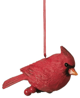 red cardinal christmas tree ornament nature bird spring novelty holiday gift