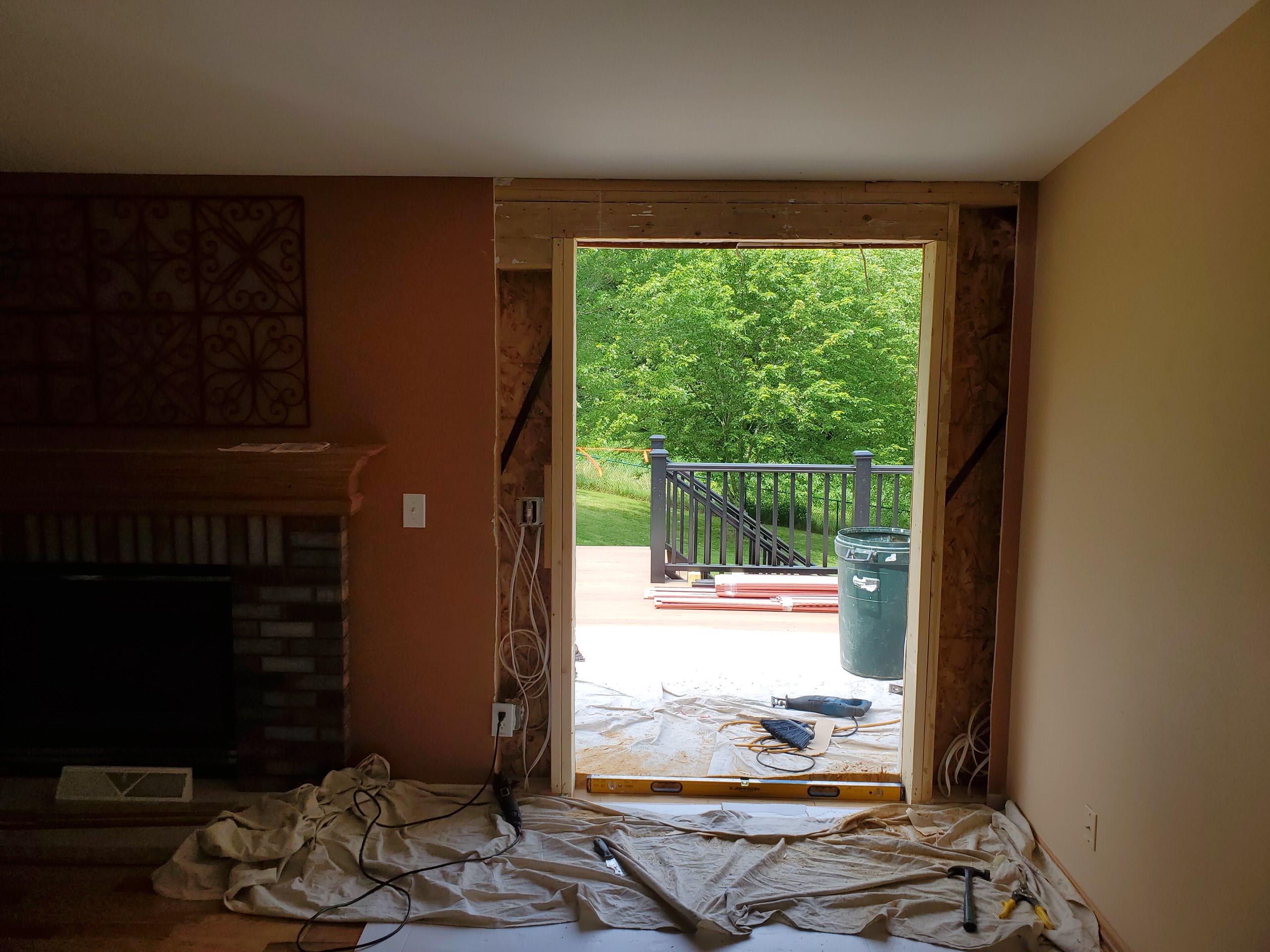 Composite deck new interior access in progress