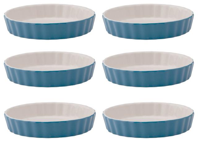 Harold Import Creme Brulee Dish Blue Set Of 6.