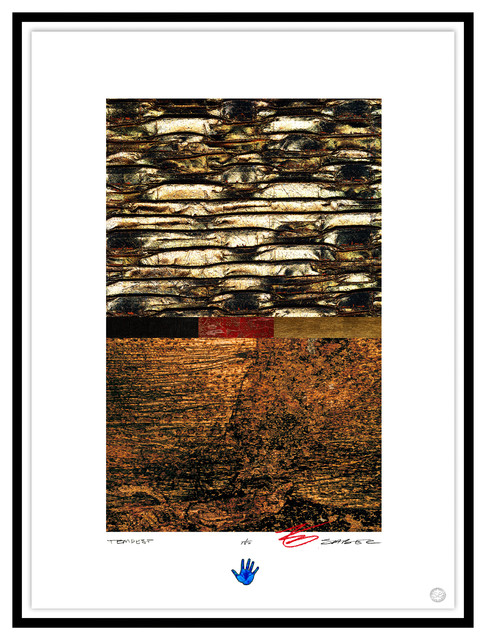 Contemporary Modern Abstract Fine Art, TEMPEST, by Charles Sabec, 2014, Black