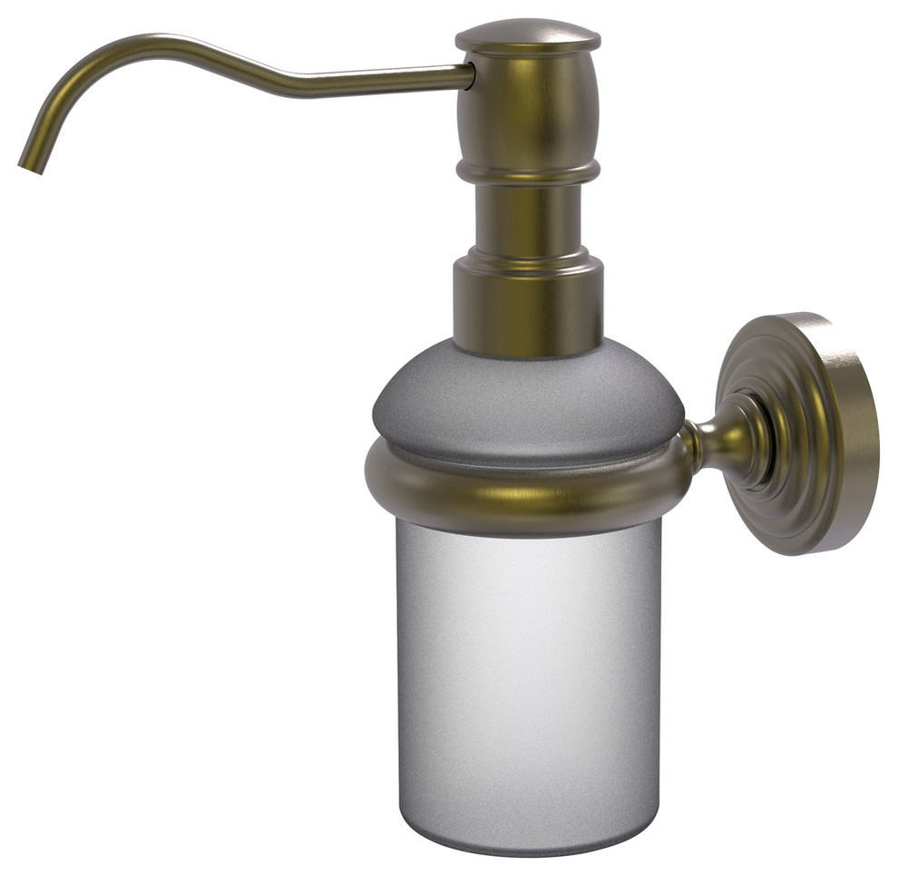 Wall Mounted Soap Dispenser Antique Br 3 X4 X7