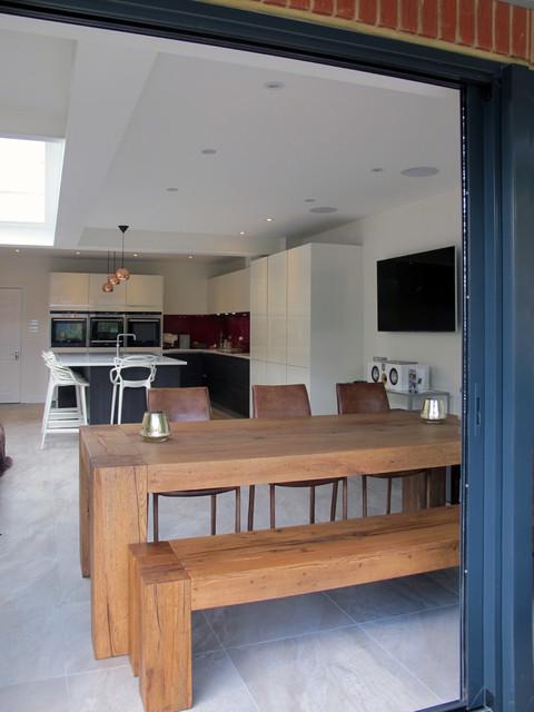 Julie chris teddington extension refurbishment for Gwent garden designs ltd