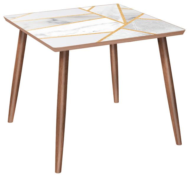 Mason Dowel Side Table - Marble Melange.