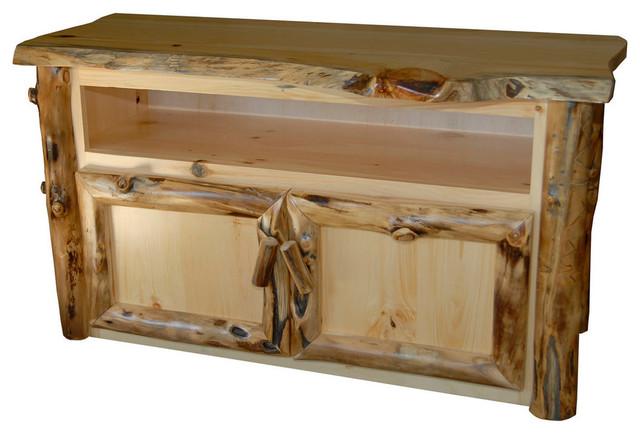 Furniture Barn USA Rustic Aspen Log TV Stand