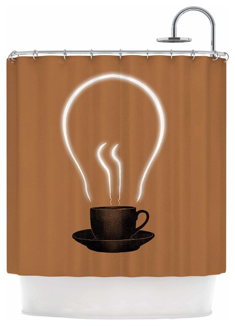 Digital Carbine The Power Of Coffee Shower Curtain
