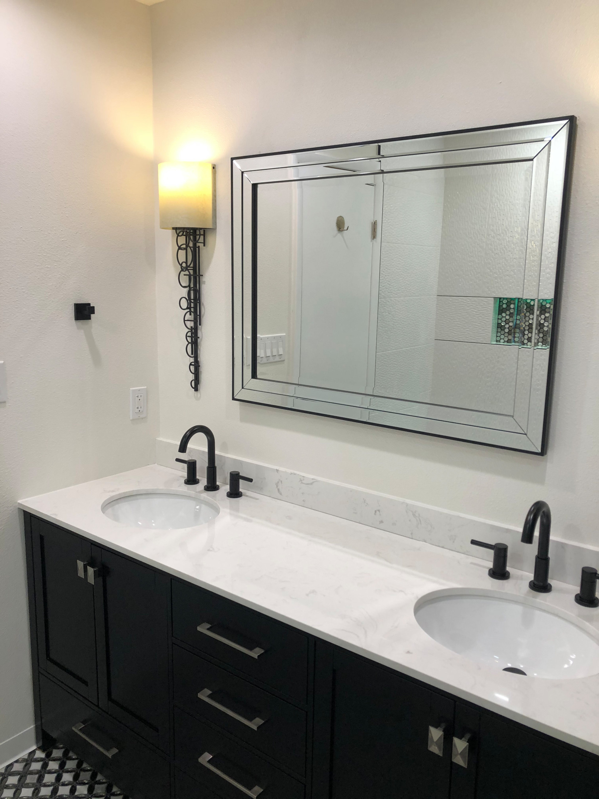 Black and White Master Bathroom