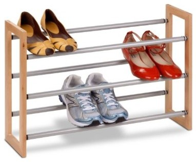 Beau Honey Can Do 3 Tier Adjustable Wood And Metal Shoe Rack