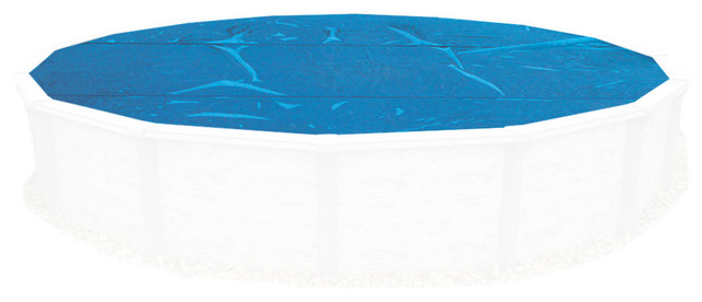 8-Mil Solar Blanket For 15-Ft Round Above-Ground Pools - Blue.