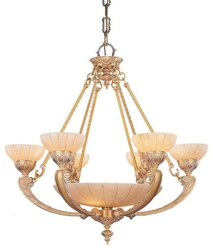 Crystorama 895WH Ornate Cast Brass Natural Alabaster Chandelier – Alabaster Lighting Chandeliers