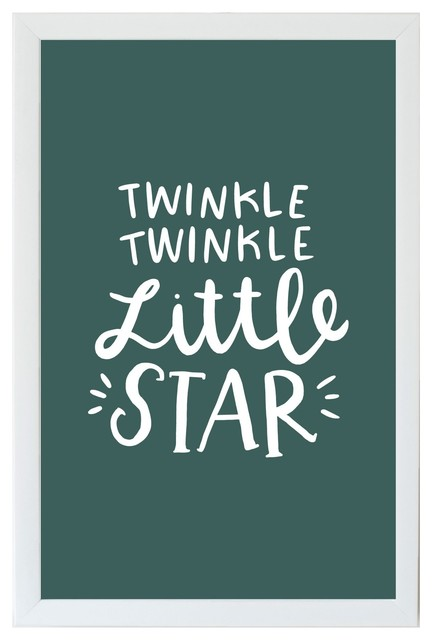 Twinkle Twinkle Little Star Kids Magnet Board With White Frame 10