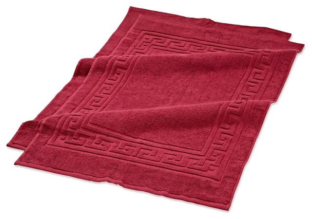 egyptian cotton bath mats burgundy set of 2