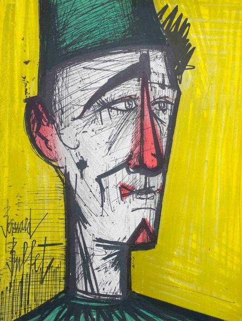 Astounding Clown Yellow By Bernard Buffet Signed Lithograph Best Image Libraries Ponolprimenicaraguapropertycom