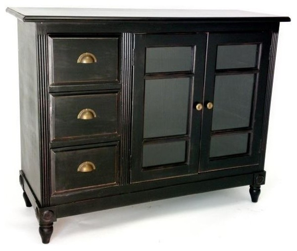 Country Sideboard In Antique Finish Traditional