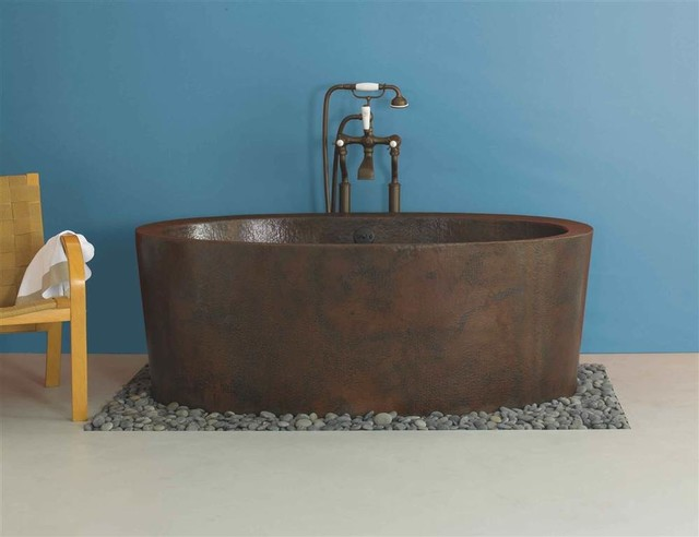 Unique Copper Freestanding Bath Festooning - Bathtub Ideas - dilata.info
