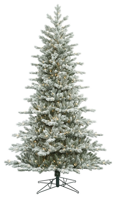 Frosted Eastern Frasier Dura-Lit 700 Clear Christmas Tree, 7.5'x52""