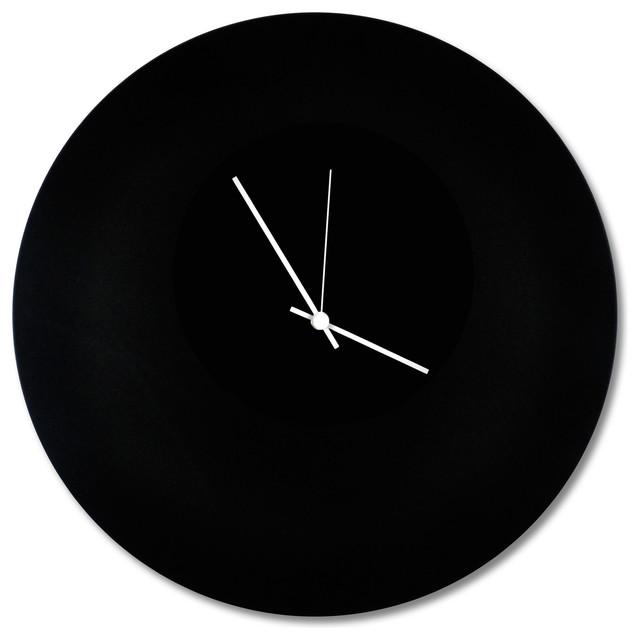 Metal Art Studio Blackout Circle Clock Minimalist