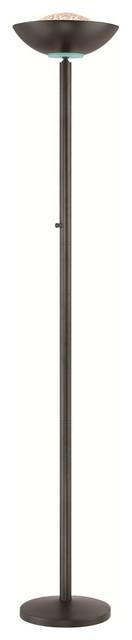 Basic Ii Halogen Torchiere Lamp In Black.