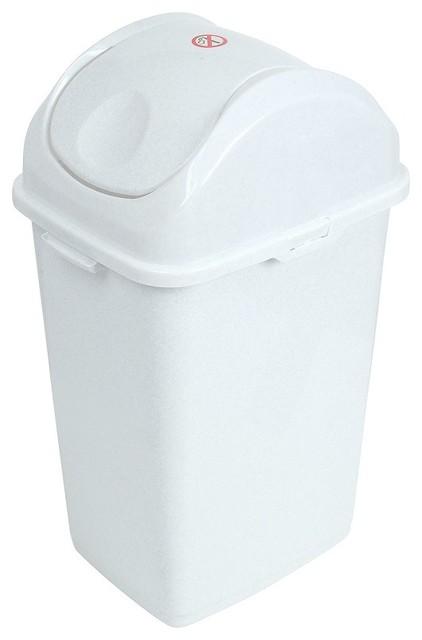 Slim 13 Gallon Trash Can With Swing Lid, Bathroom Trash Can With Swing Lid