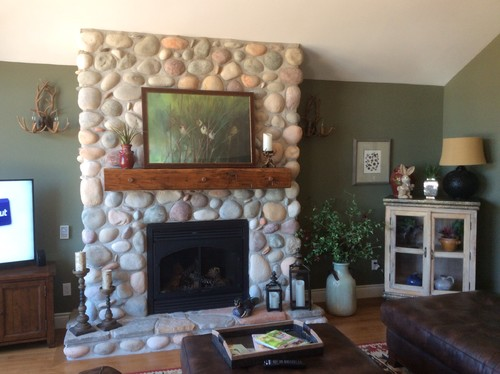 Should I Put A Shinny Sealant On My River Rock Fireplace
