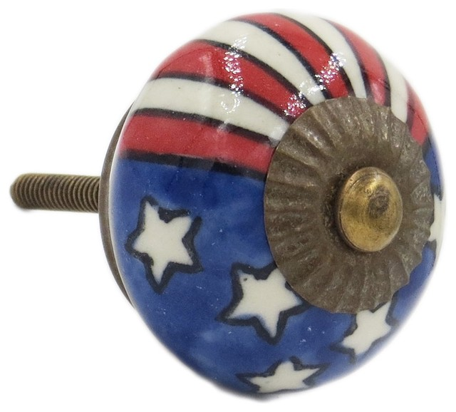 Decorative Knobs Patriotic US Flag Knob - Cabinet And ...