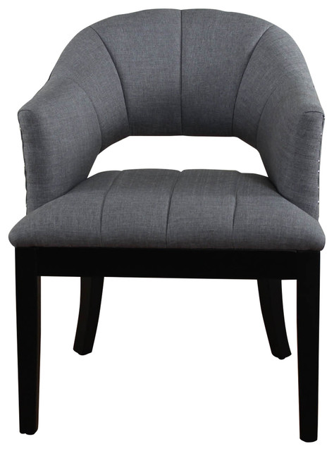 Monsoon Pacific Preveza Gray Upholstered Chair Office