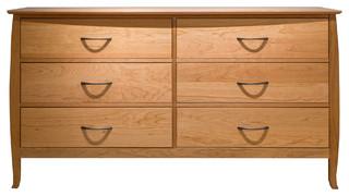 Cascade 6 Drawer Double Dresser, Natural Cherry