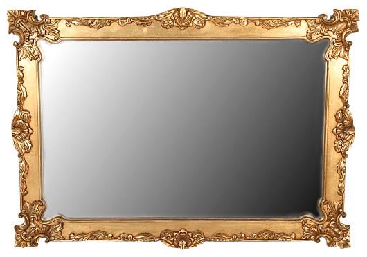 Gold Baroque Framed Mirror, Solid Mahogany, 6\' - Victorian - Wall ...