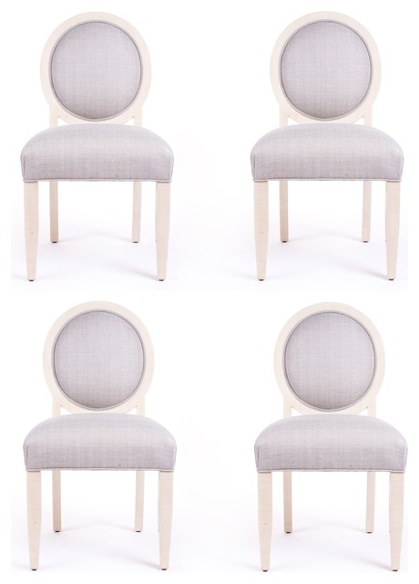 Set Of Four J Robert Scott Art Deco Style Dining Chairs Transitional Dining  Chairs