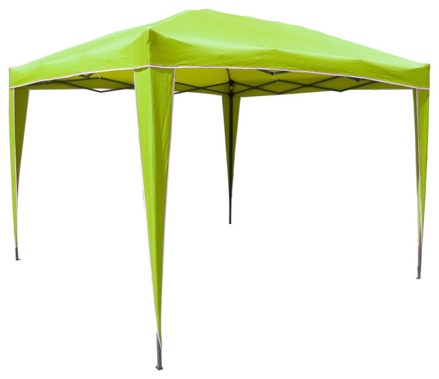Square Folding Gazebo,light Green.
