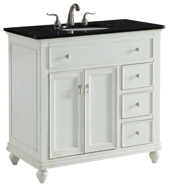 "Otto 36"" Single Bathroom Vanity Set, Antique White."