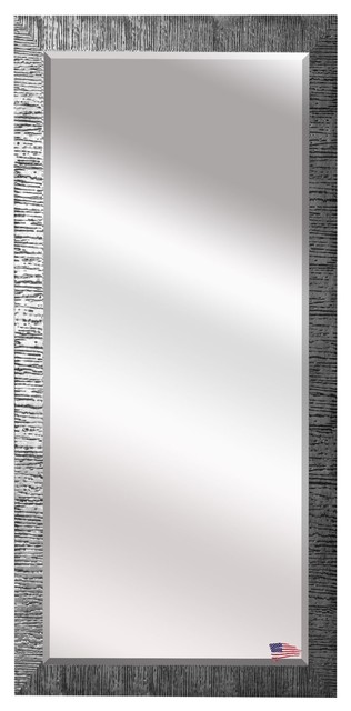 Us Made Safari Silver Beveled Full Body Mirror, Full Size.