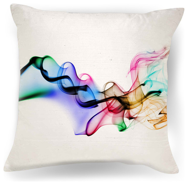 color smoke throw pillow