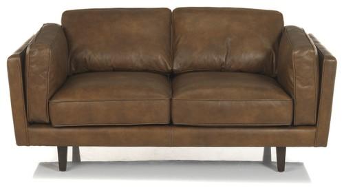Brooklyn salon canape en cuir vachette 2 place - Salon canape cuir complet ...