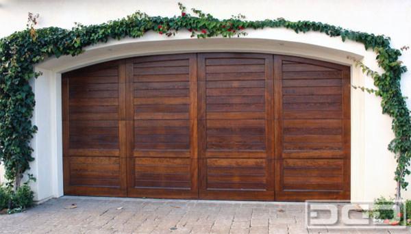 California Dream 02 Customi Wood Garage Door With A
