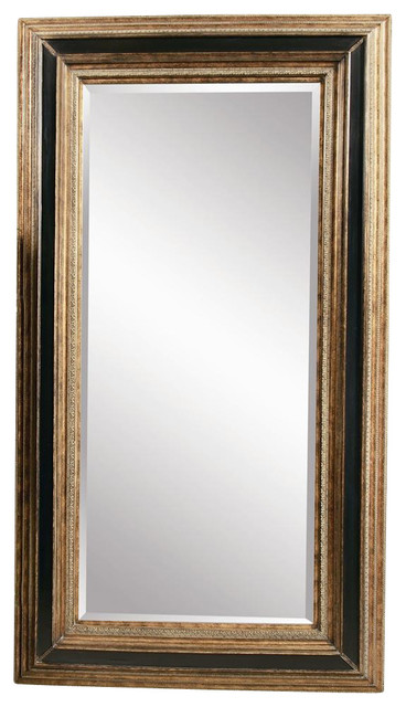 Antique Style Floor Mirror With Decorative Frame