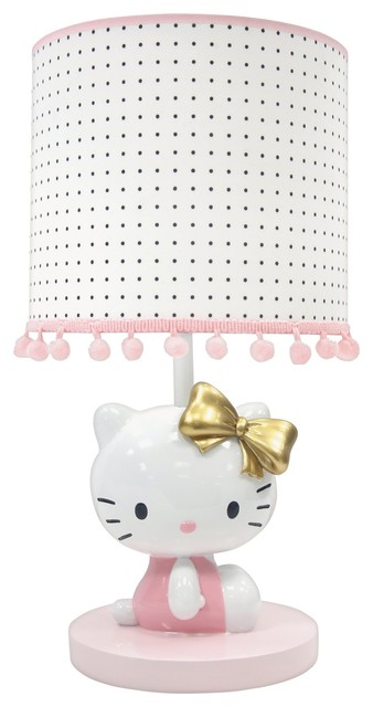 Hello Kitty Nursery Lamp With Shade Bulb By Lambs Ivy Pink And Gold