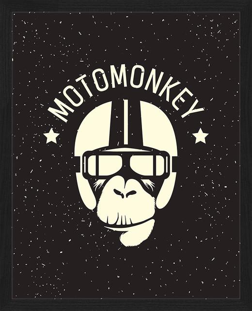 """""""Motomonkey"""" Framed Art Print, 45x55 cm"""